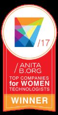 Cinta ganadora 2017 de mujeres tecnológas de AnitaB.org